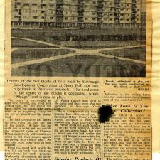 Flat Tenants' Problem - Television or Tennis | Stevenage Museum
