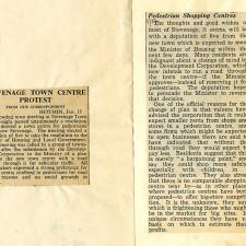 Town Centre Protest | Stevenage Museum